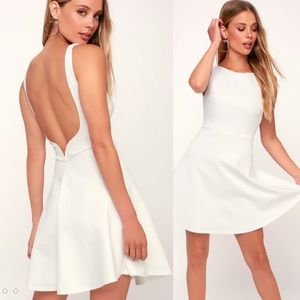 Lulu'S Special Kind of Love White Backless Dress